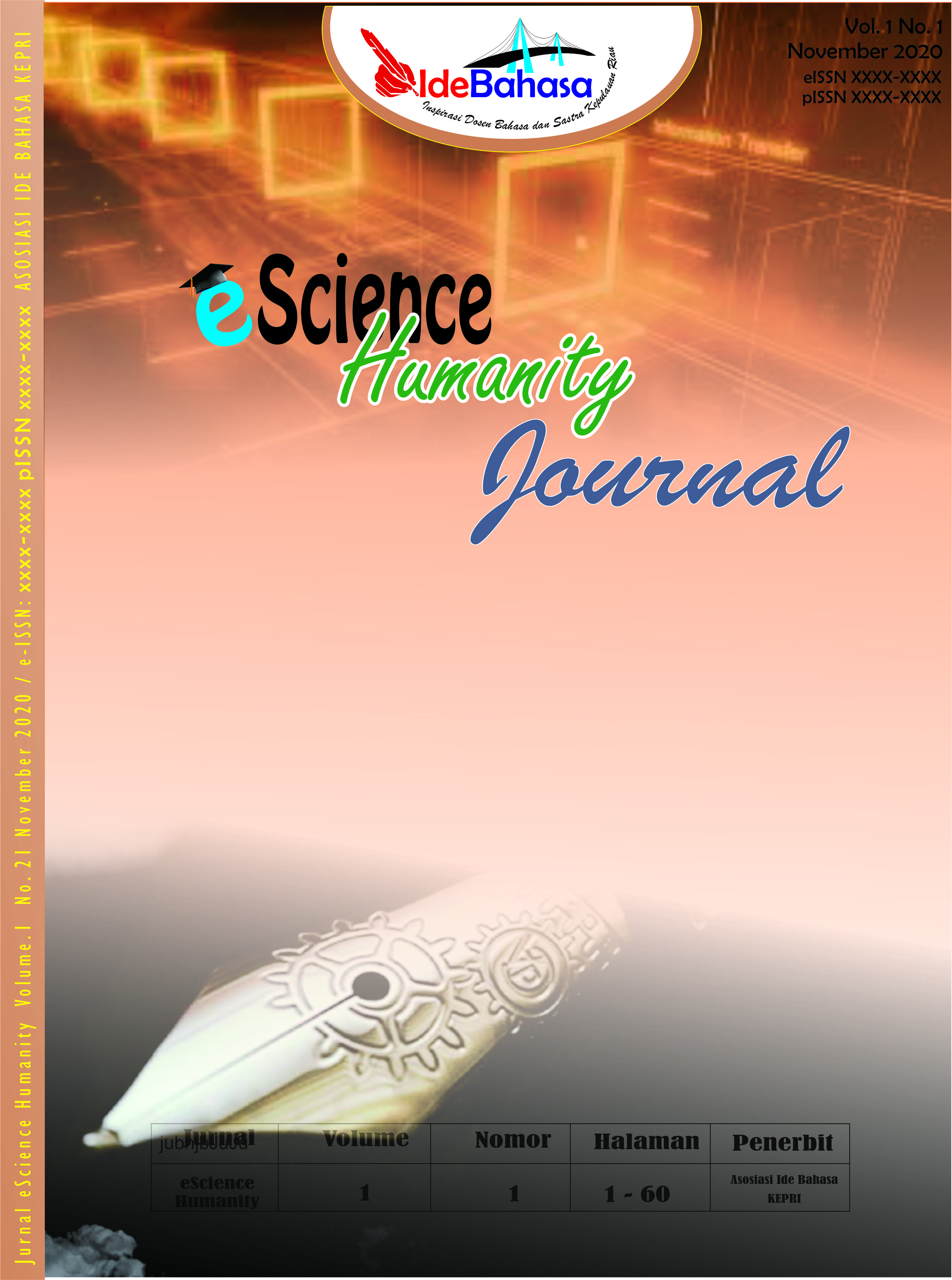 View Vol. 1 No. 1 (2020): eScience Humanity Journal Volume 1 Number 1 November 2020